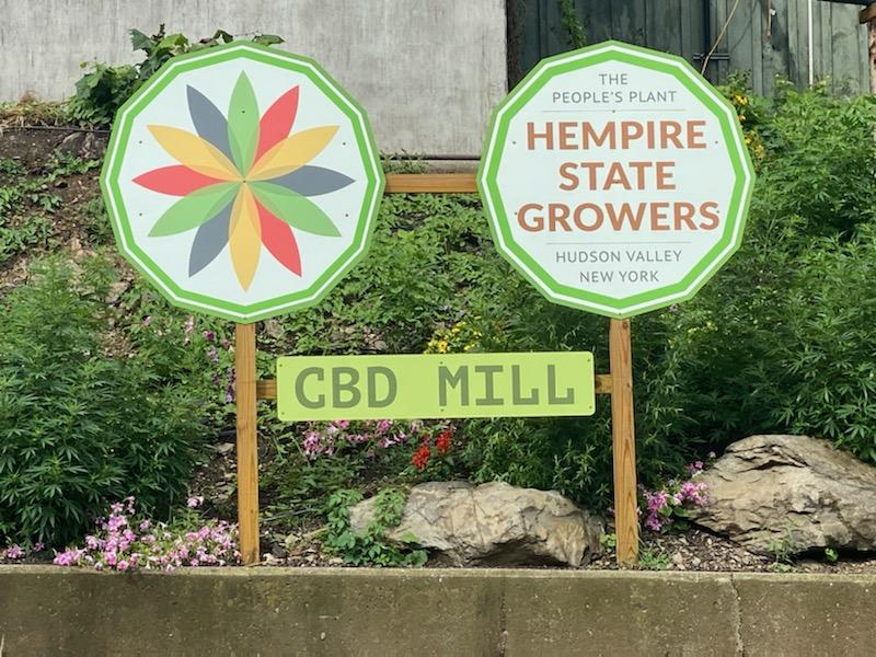 Hempire State Growers sign for CBD Mill